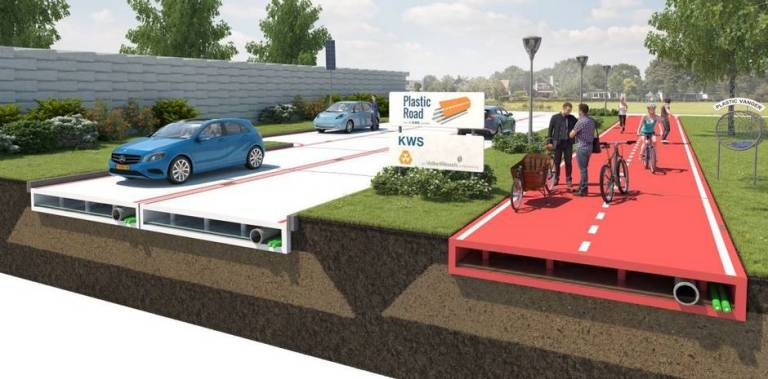 dutch plastic road