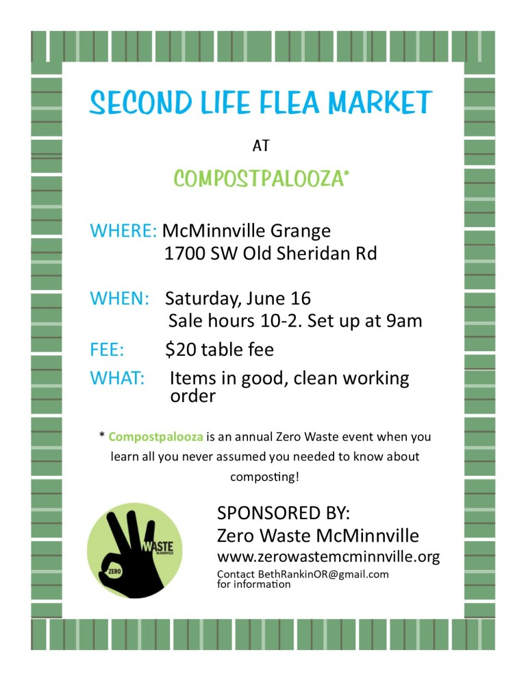 Second Life flea market poster