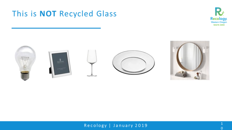not recycled glass