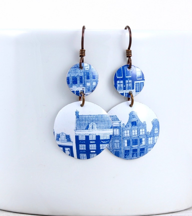 Elsa_Dye_double_disc_tin_earrings - Elsa Dye