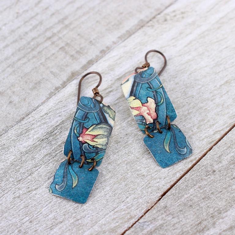 Elsa_Dye_hinged2_tin_earrings - Elsa Dye