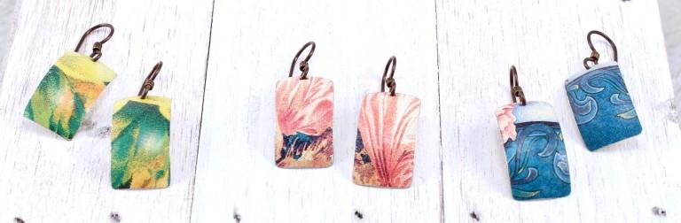 Elsa_Dye_rectangle_tin_earrings - Elsa Dye