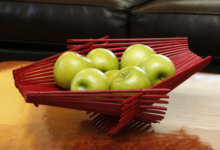 Large red folding basket - Bryan Parks (1)